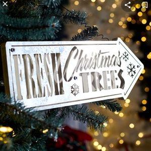 Pier One Fresh Christmas Trees LED lighted sign